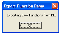 Exporting C++ Functions from DLL