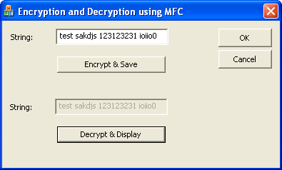 Storing encrypted data into text file