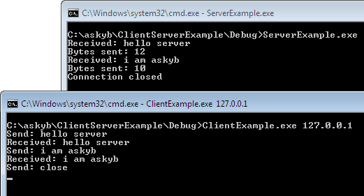 askyb com » Windows Socket Example: TCP Client and Server