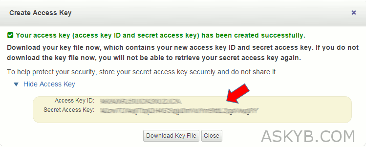 Create Amazon EC2 Access Key